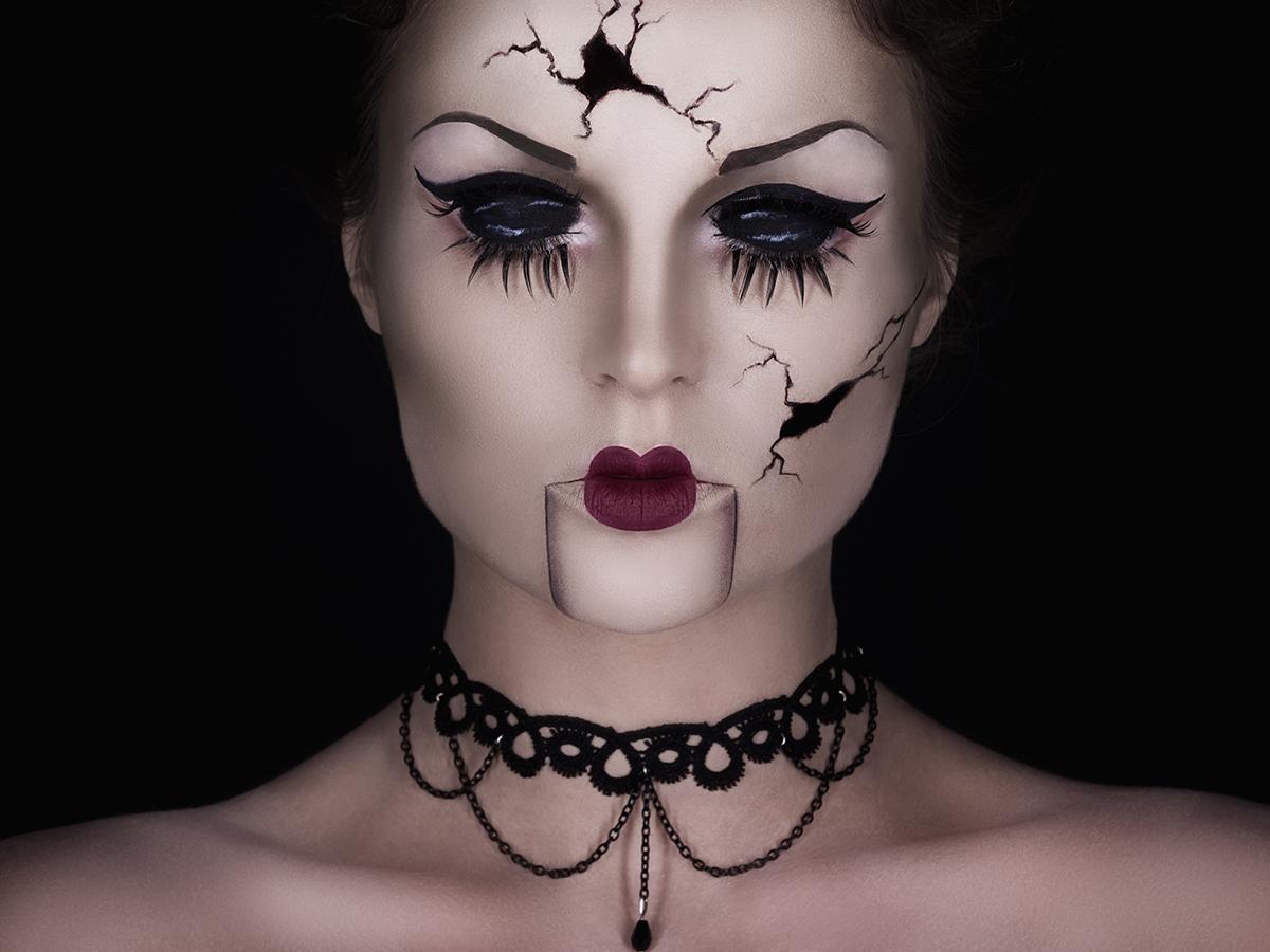 Makijaż na Halloween czarownica