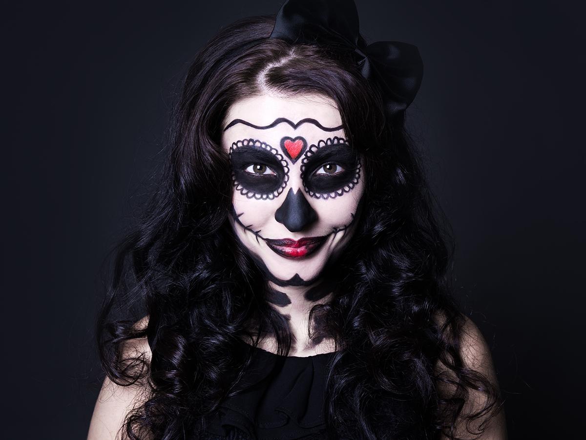 Makijaż na Halloween czaszka