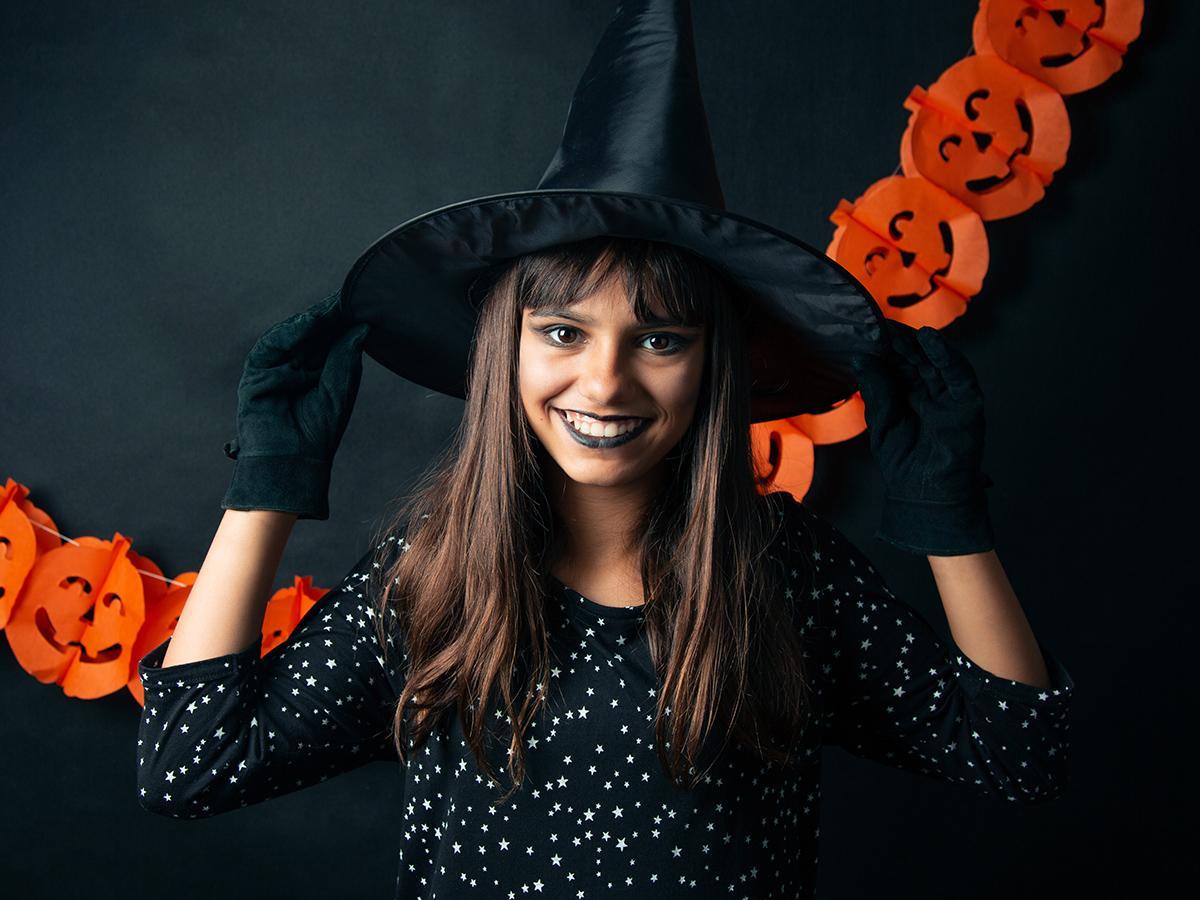 Makijaż na halloween dla dzieci czarownica