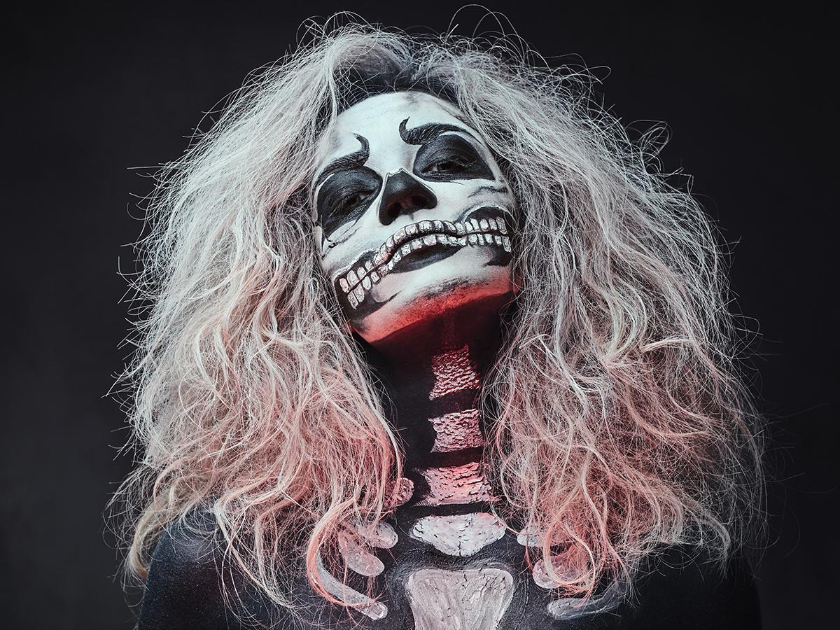 Makijaż na Halloween szkielet