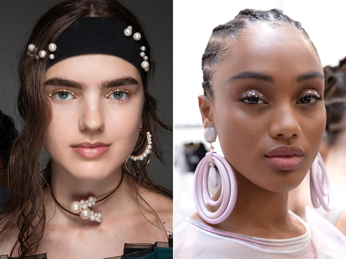 makijaż na ślub 2021 z brokatem