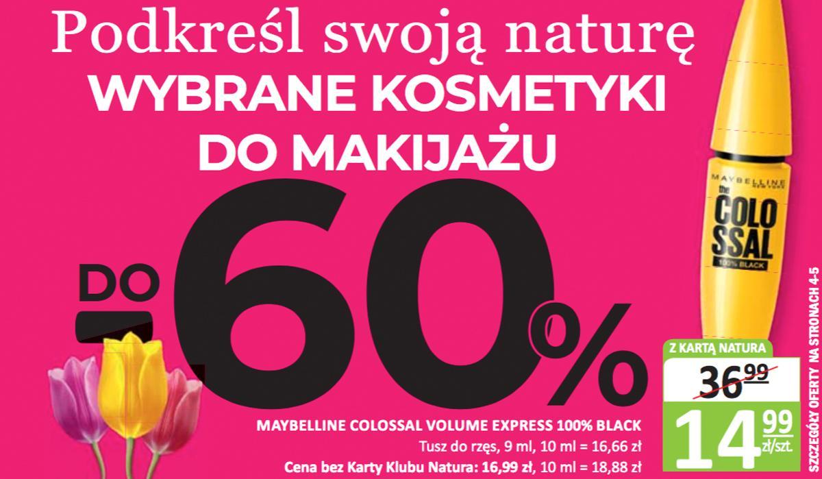 Promocja na kosmetyki do makijażu w Naturze