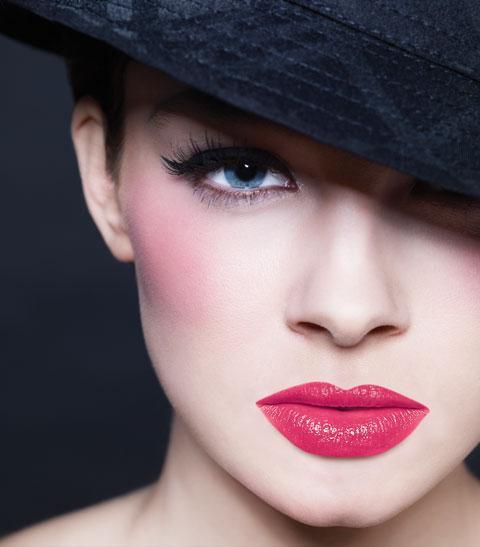 Makijaż w różowym kolorze
