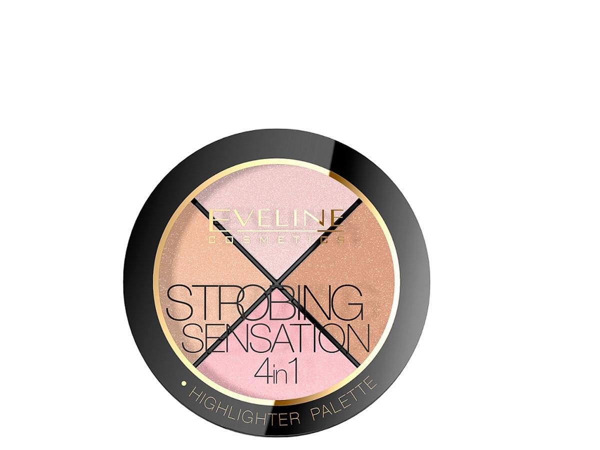 Highlighter Palete Strobing Sensatin, Eveline, cena