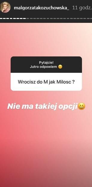 """Małgorzata Kożuchowska wróci do """"M jak miłość""""?"""