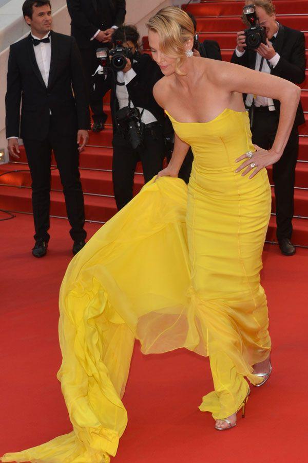 Festiwal w Cannes: Charlize Theron w długiej żółtej sukni