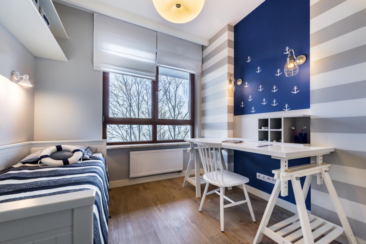 projekt małego pokoju dla nastolatka
