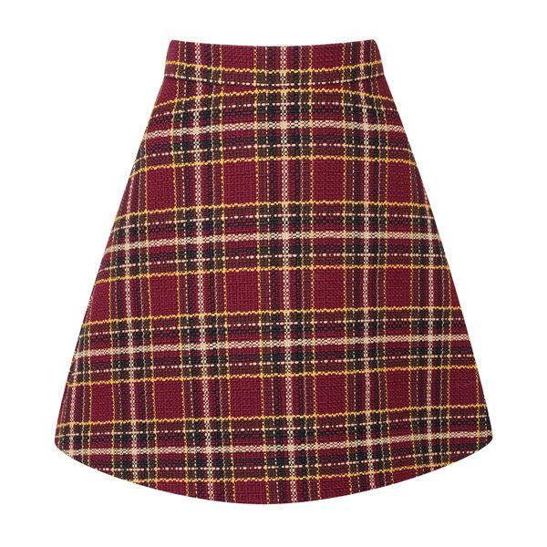 Topshop jesień 2014 - spódnica w kratkę