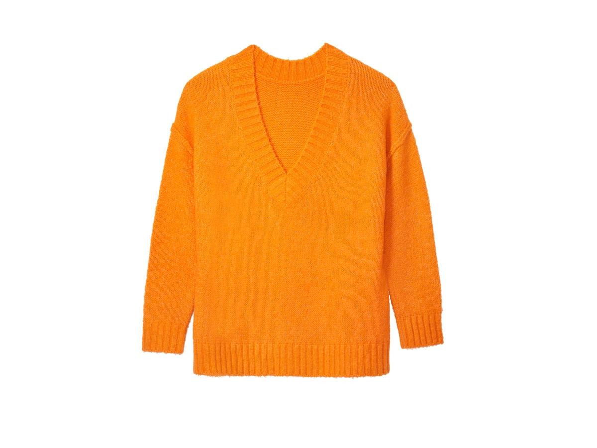 Pomarańczowy sweter House, cena