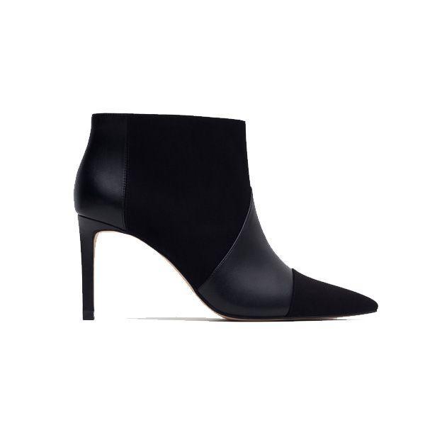 Czarne botki na obcasie Zara, cena