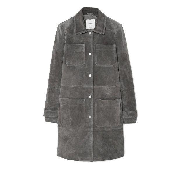 Zamszowy płaszcz Mango, cena