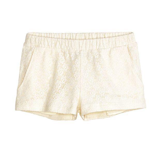 Białe szorty H&M, cena
