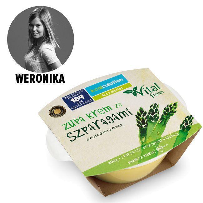 Zupa krem ze szparagami, do kupienia w Biedronce - cena ok. 5.50 zł