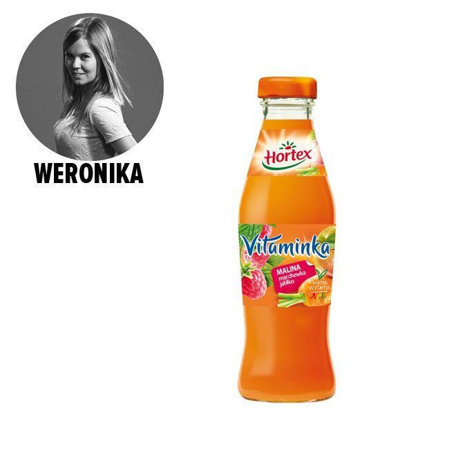 Hortex Vitaminka, malina & marchewka & jabłko - cena ok. 1.30 zł