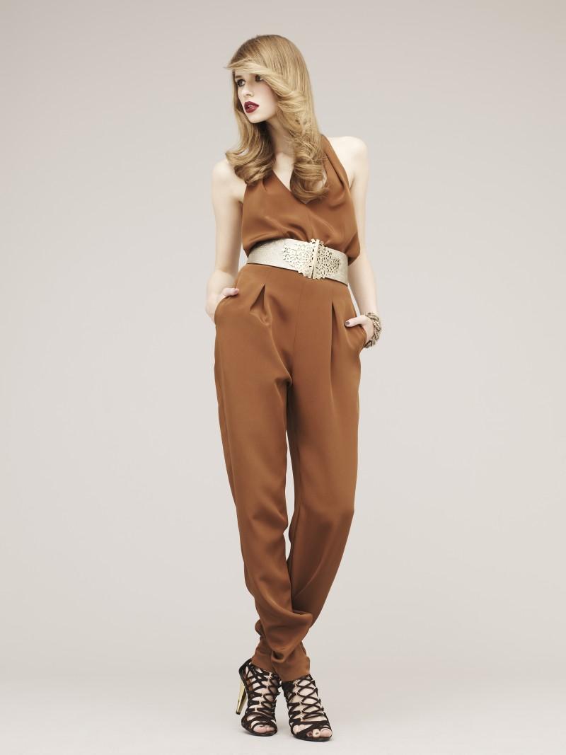 brązowy kombinezon Marks & Spencer - wiosna/lato 2011