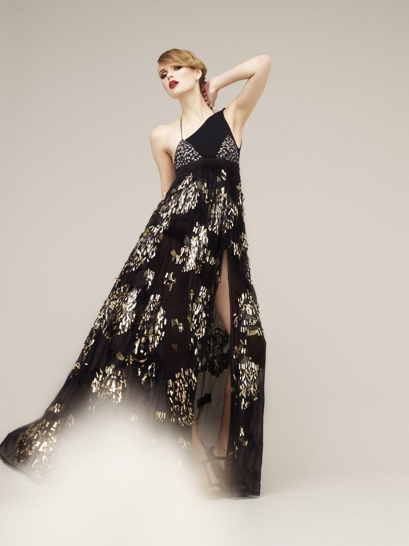 czarna sukienka Marks & Spencer długa - kolekcja na lato