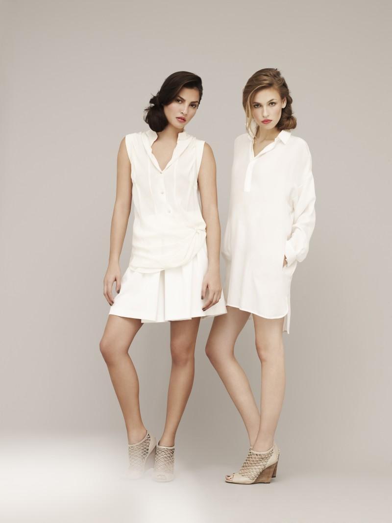 biała sukienka Marks & Spencer - moda 2011