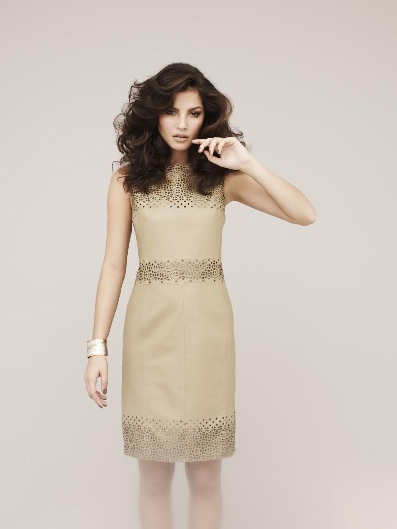 beżowa sukienka Marks & Spencer - wiosna/lato 2011
