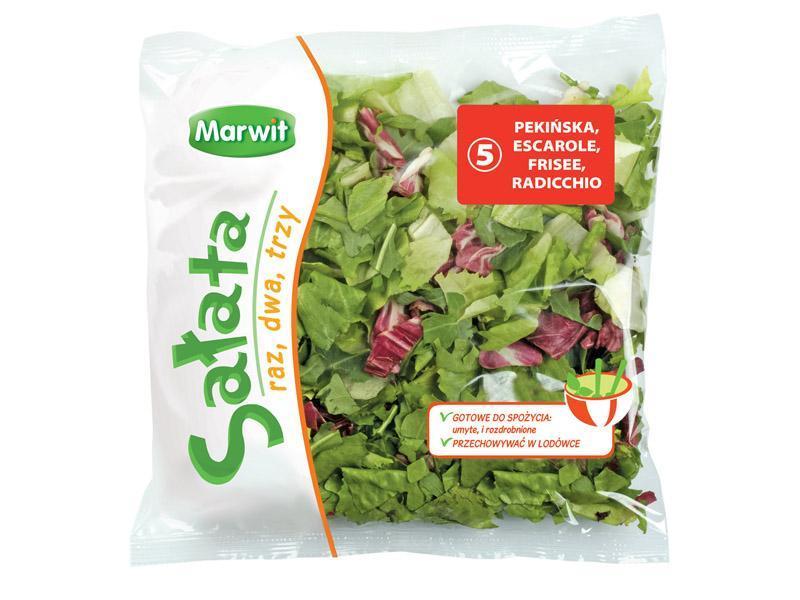 <b>Marwit Sałata raz, dwa, trzy</b> - pekińska, escarole, frisee, radicchio 170g