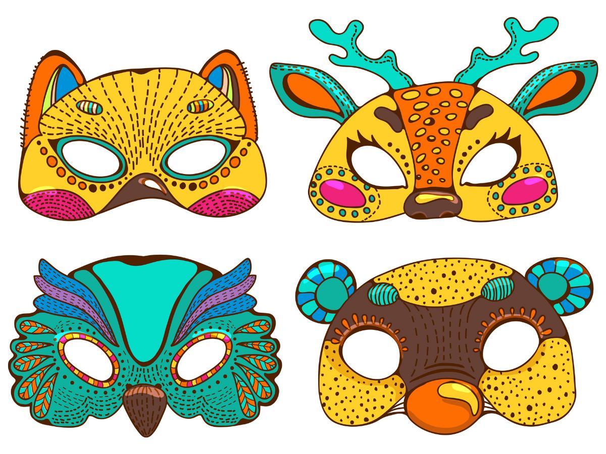 Maska karnawałowa zwierzątko