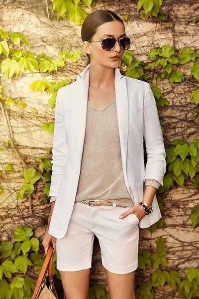 biała marynarka Massimo Dutti  - wiosenne stylizacje