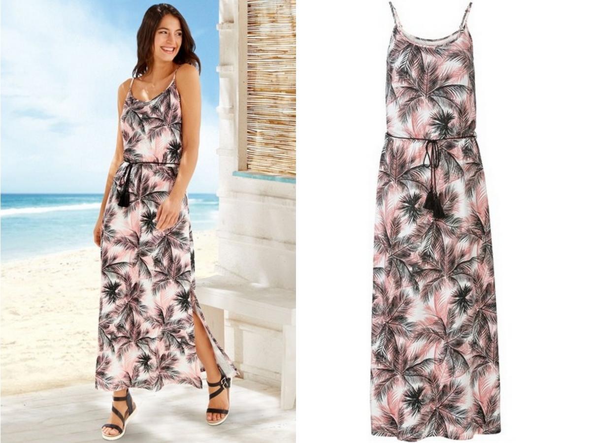 pastelowa sukienka we wzory z Lidla