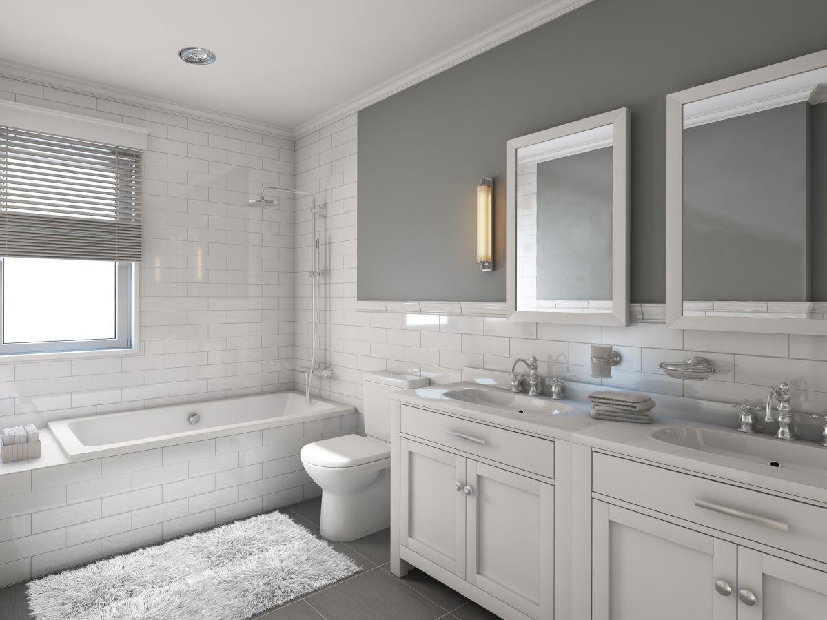meble łazienkowe z umywalką
