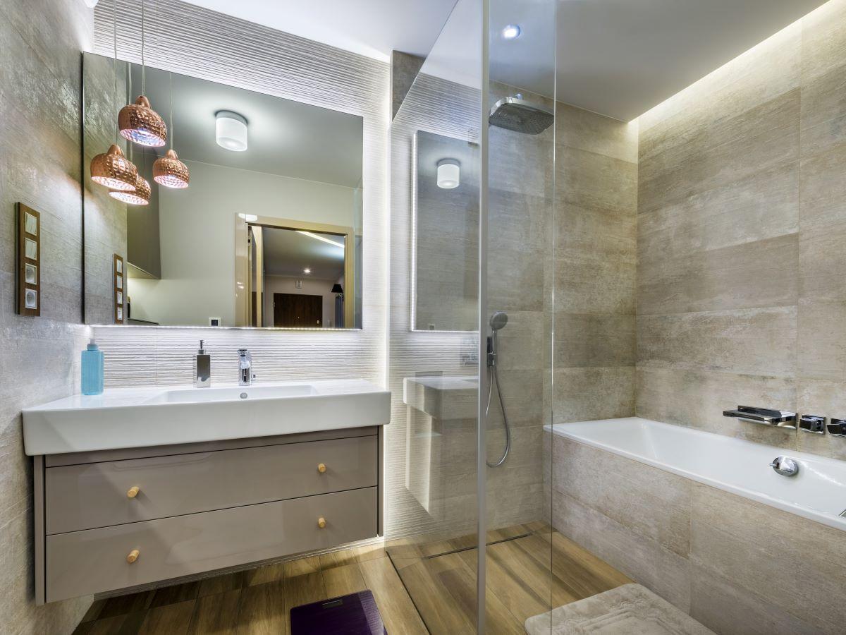 meble łazienkowe szare