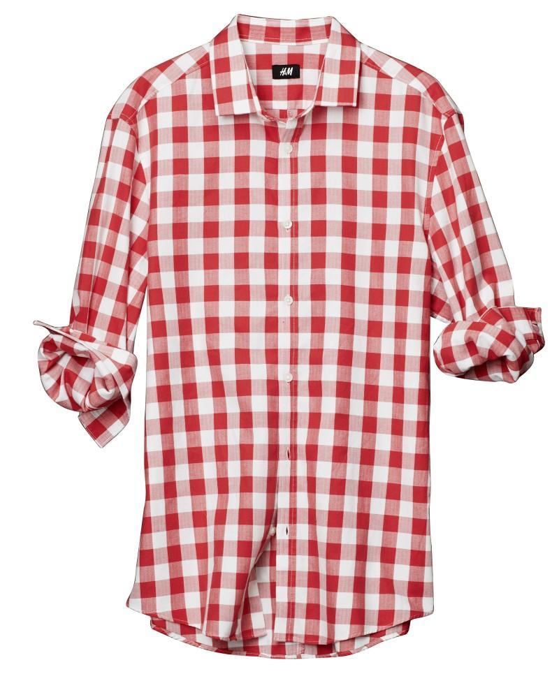 czerwona koszula H&M w kratkę - wiosna/lato 2011