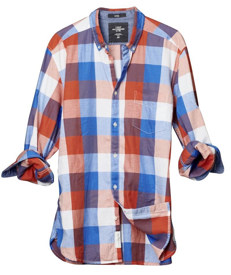 kolorowa koszula H&M w kratkę - wiosna/lato 2011