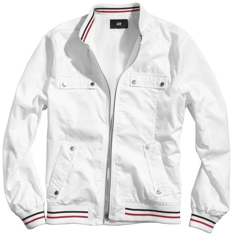 biała kurtka H&M - moda 2011