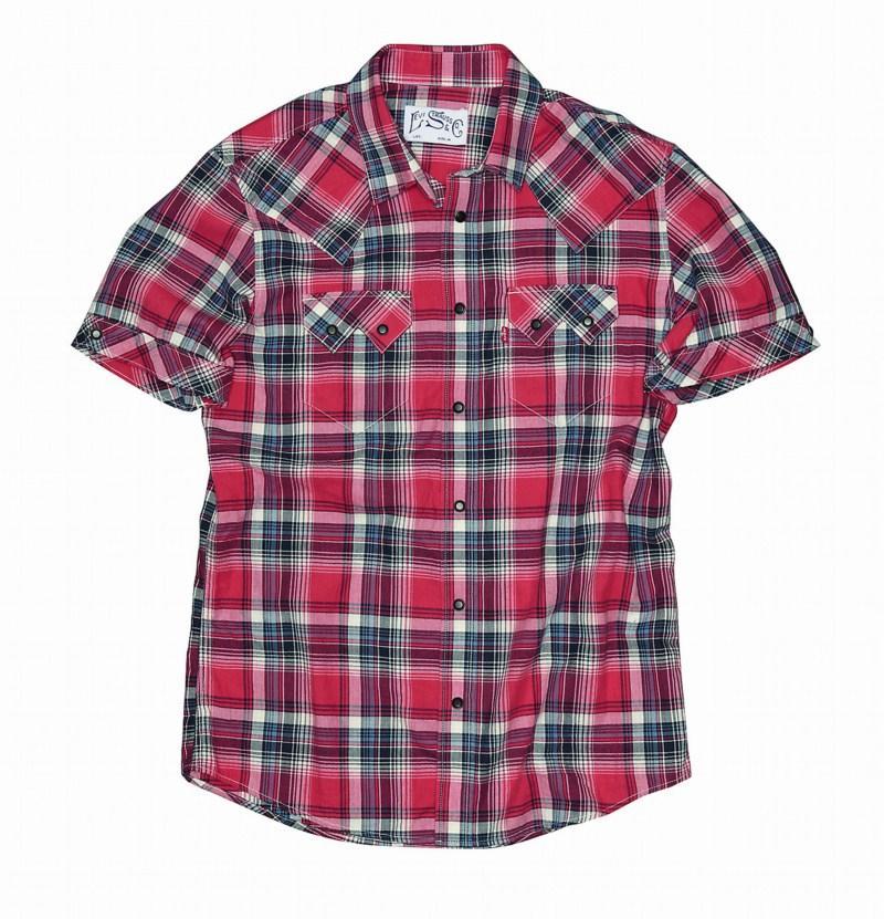 czerwona koszula Levis w kratkę - kolekcja wiosenna