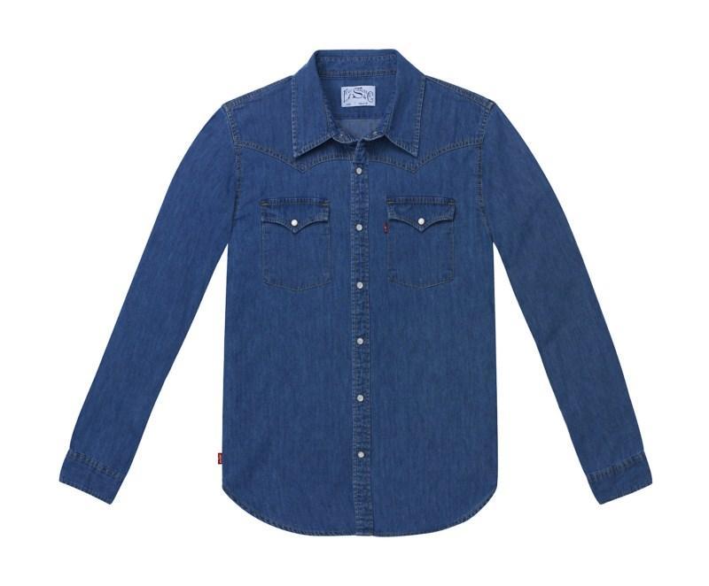 niebieska koszula Levis dżinsowa - moda wiosna/lato