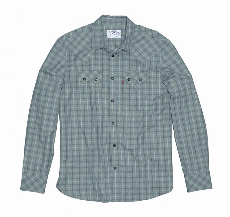 niebieska koszula Levis w kratkę - sezon wiosenno-letni