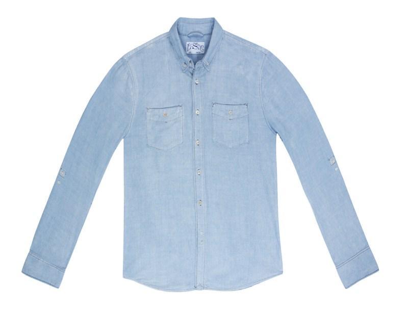 błękitna koszula Levis dżinsowa - kolekcja wiosenno/letnia