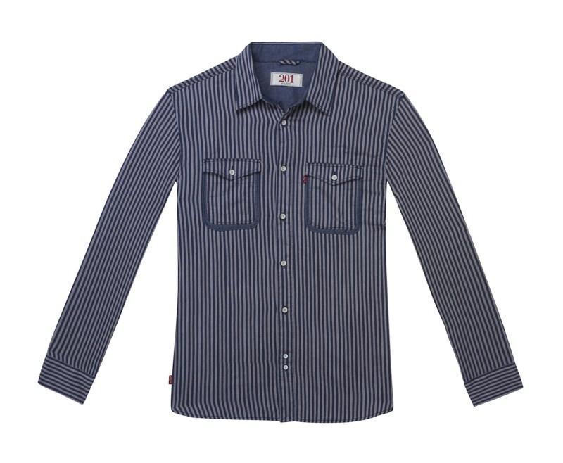 granatowa koszula Levis w paski - trendy wiosna-lato