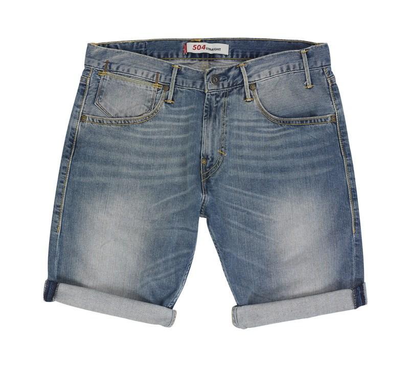 niebieskie bermudy Levis dżinsowe - lato 2011