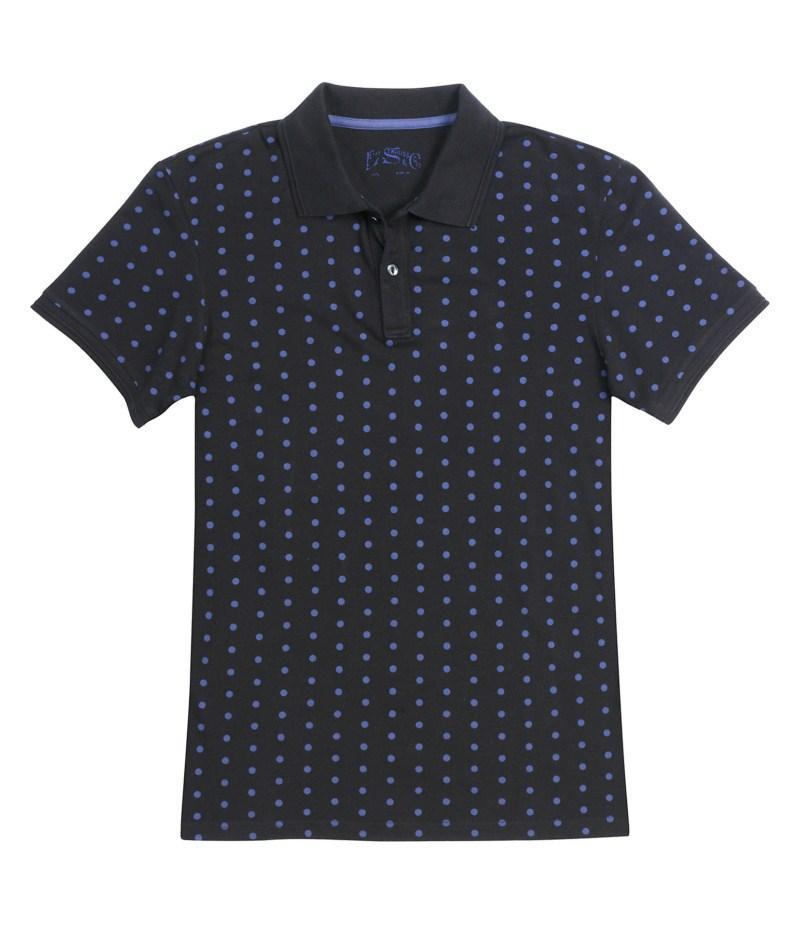 granatowa koszulka Levis w kropki - trendy wiosna-lato