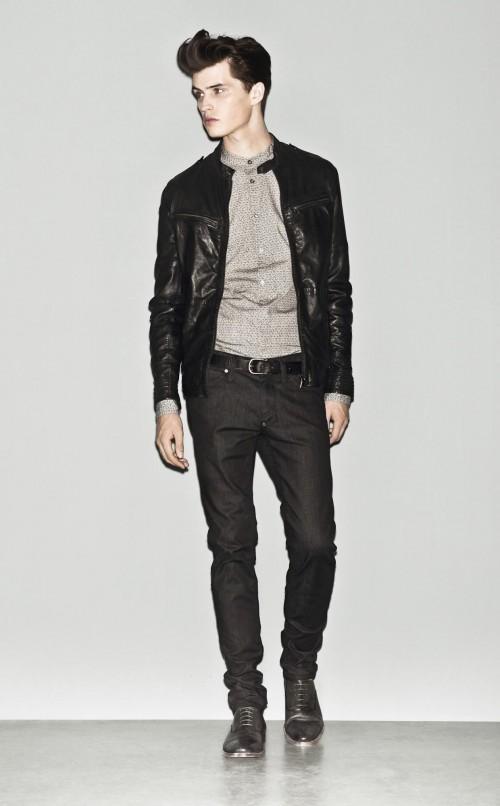 czarna kurtka Sisley - wiosna 2013