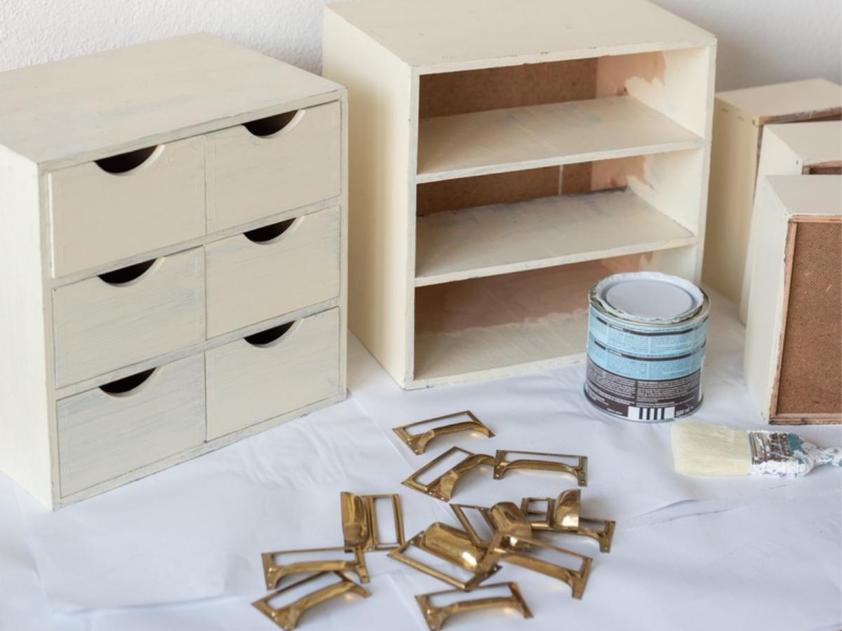Metamorfoza minikomody IKEA MOPPE - krok 2