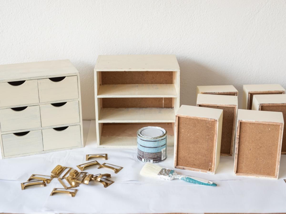 Metamorfoza minikomody MOPPE IKEA - krok 1