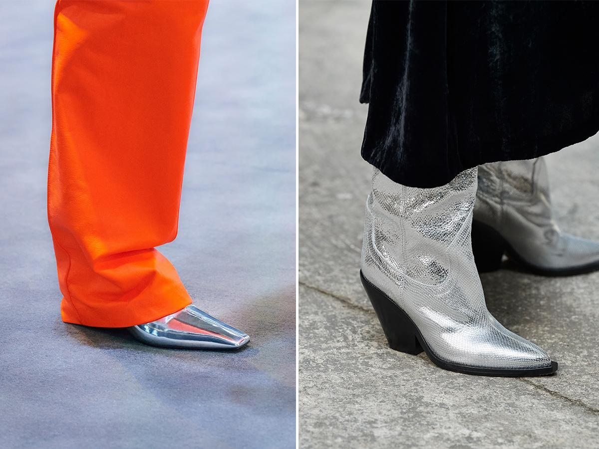srebrne buty jesień zima 2021 2022