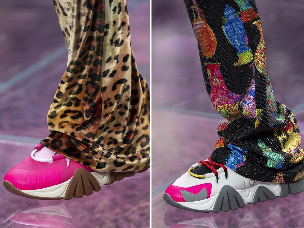 modne buty wiosna 2020: kolorowe sneakersy
