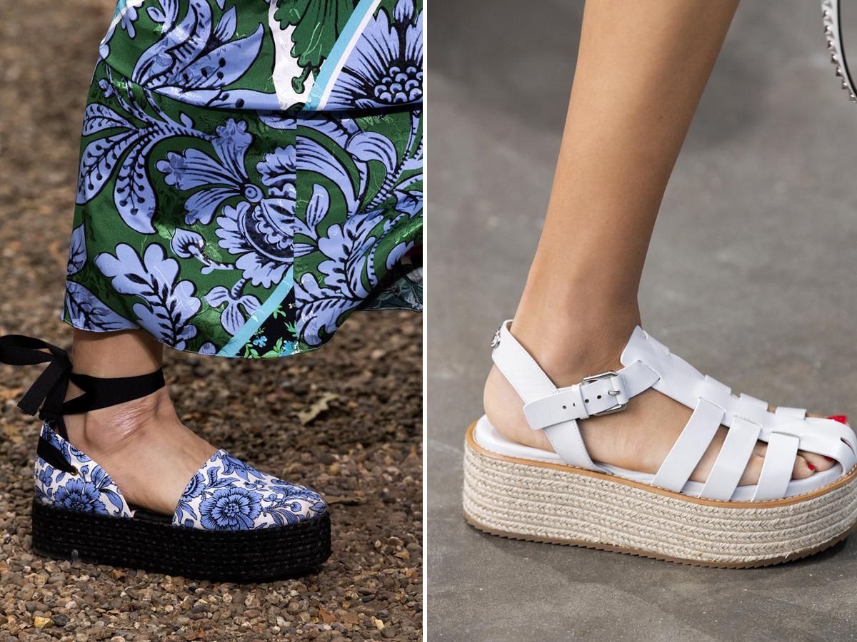 modne buty wiosna lato 2020: na platformie