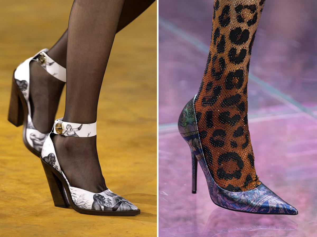 modne buty wiosna-lato 2020: spiczaste noski