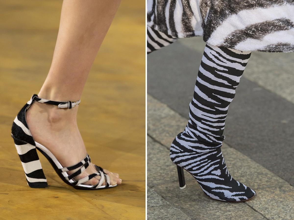 modne buty wiosna lato 2020 w zwierzęce wzory