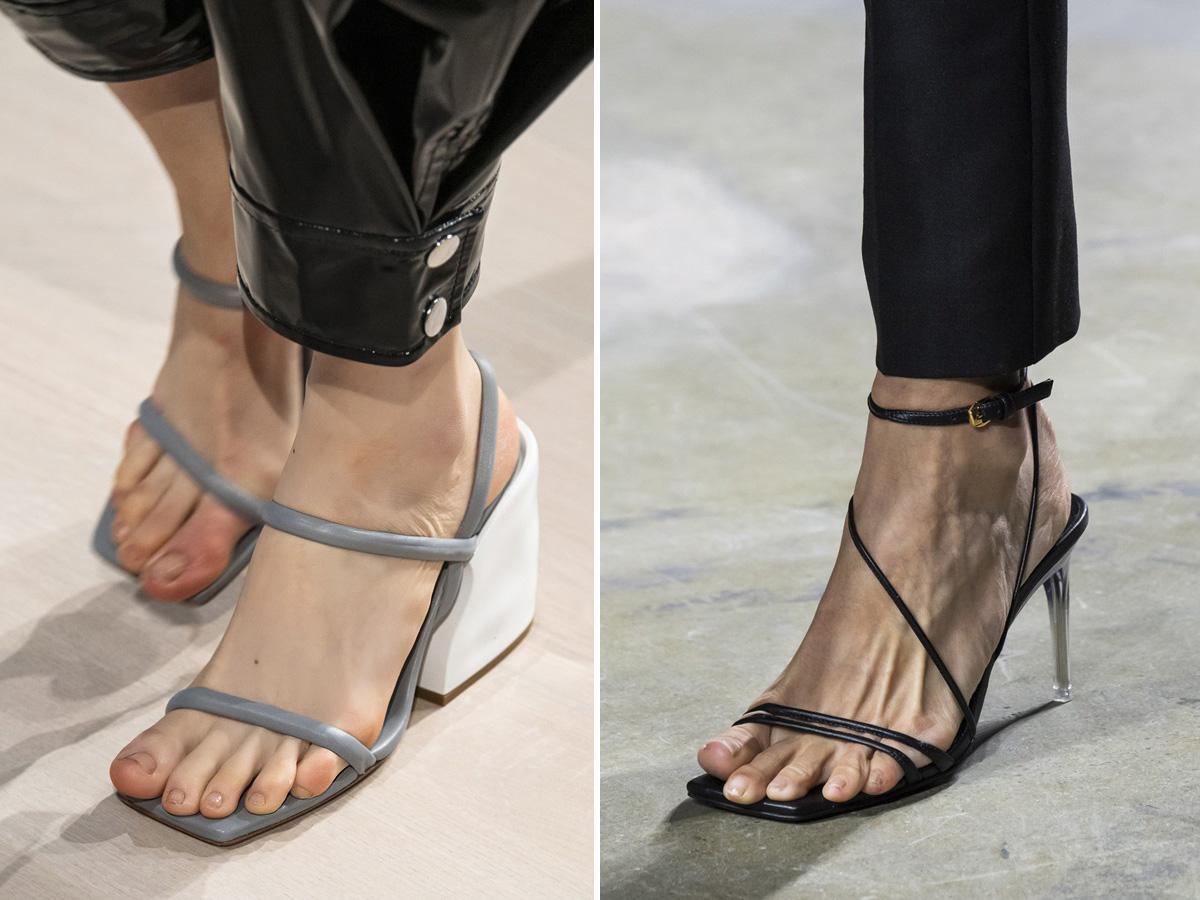 modne buty wiosna lato 2020 kwadratowe czubki