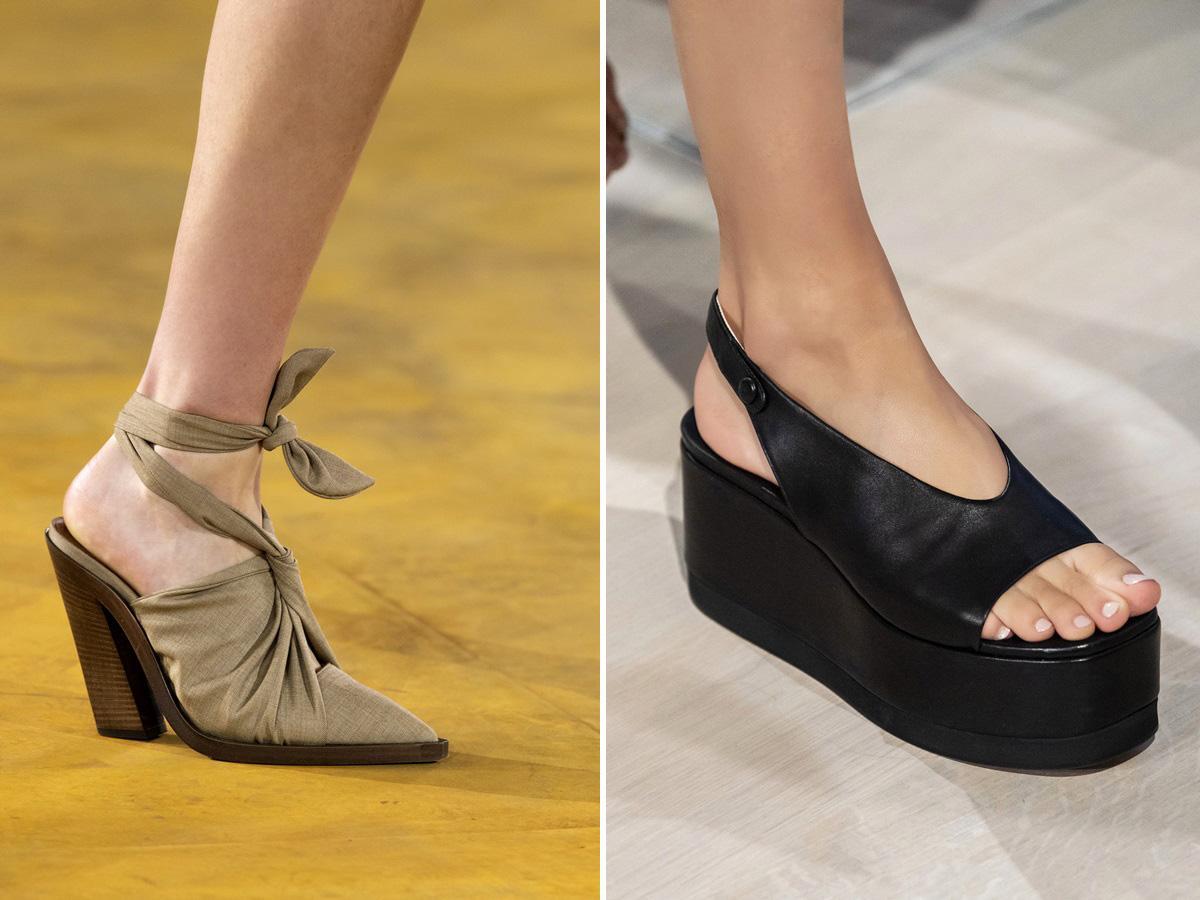 modne buty wiosna lato 2020 z odkrytą pięta