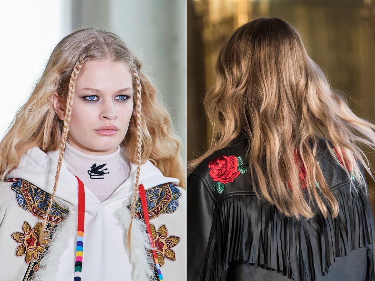 modne falowane włosy jesień zima 2021 2022