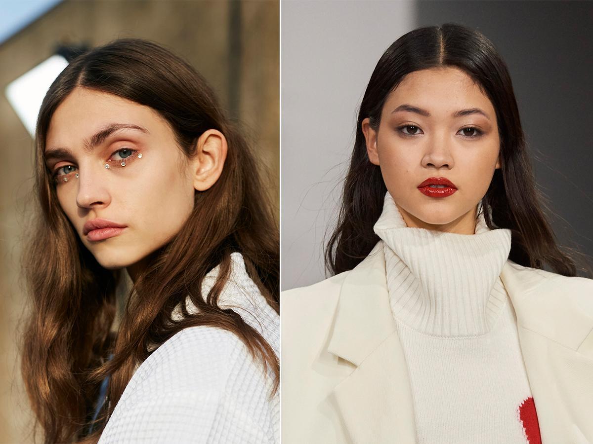 modny przedziałek jesień zima 2021 2022